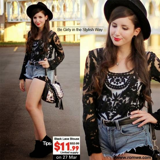 Website Watch | Romwe.Com Black Lace Blouse Sale