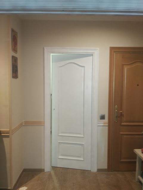 Arte artesania y manualidades lacado de puertas handmade for Molduras madera leroy merlin