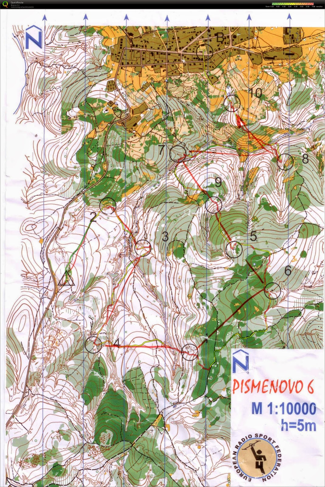 карта 144 МГц (Радио ориентирование)