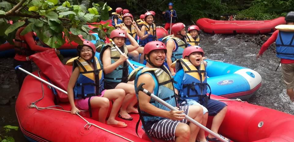 Bali white water rafting package