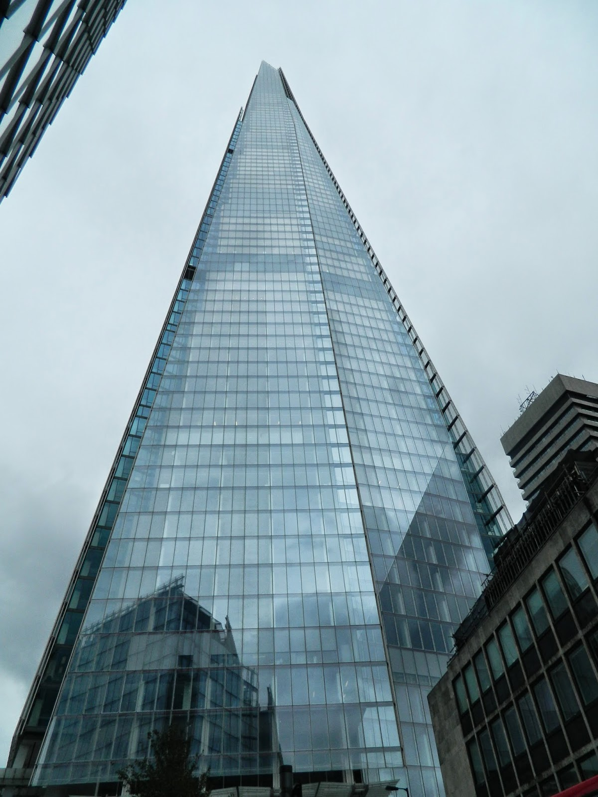 the Shard typical British weather