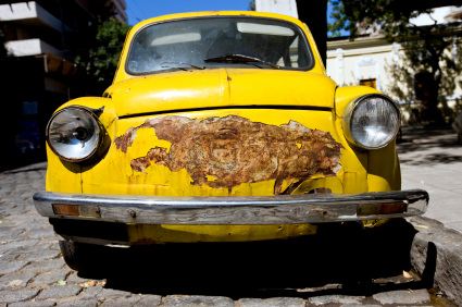 how to get rid of rust from a car