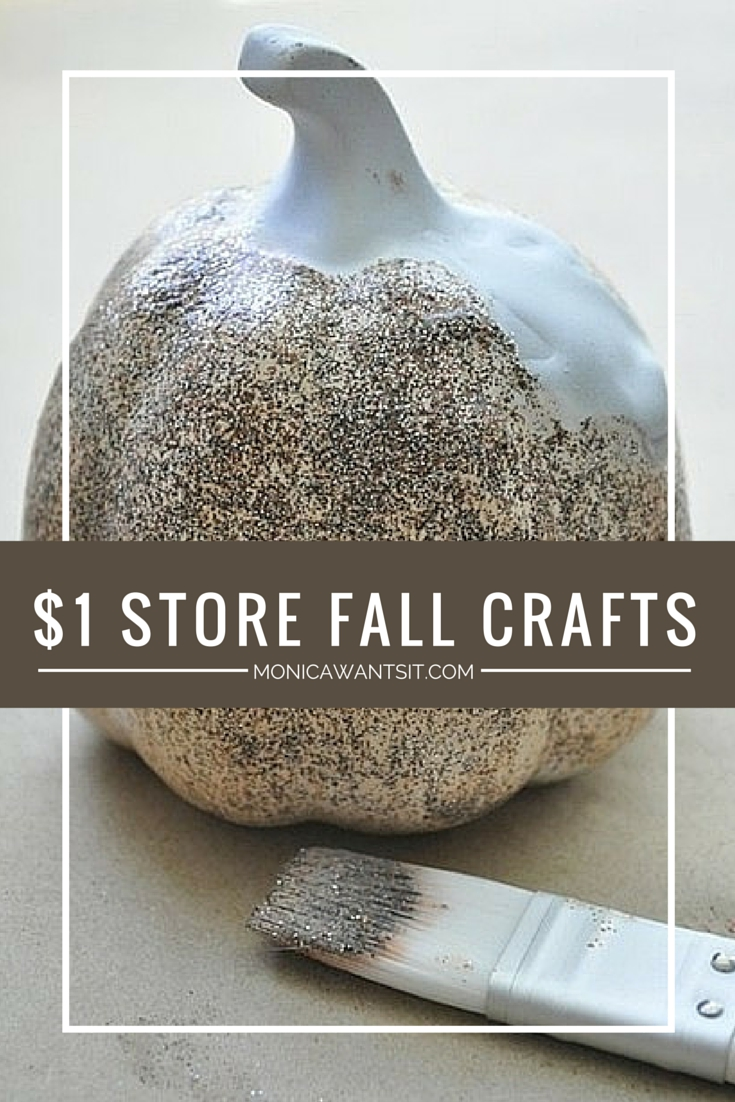 A post featuring various tutorials for glam DIY fall pumpkins from Dollar Tree! Who knew Dollar Tree items had so much potential?