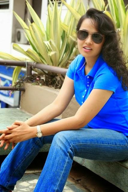 Nisha Kotari Hot Stills in Blue