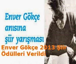 Enver Gökçe 2013 Şiir Ödülleri Verildi