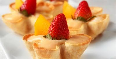 Receita de Cestinhas de frutas