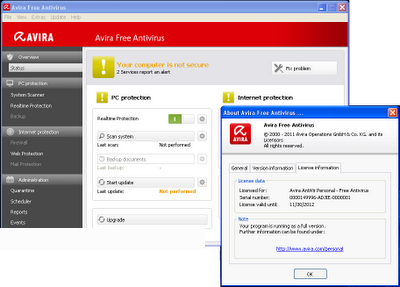 Free software Avira Free Antivirus 2012