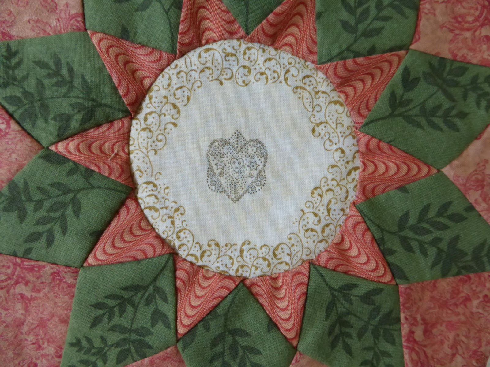 Detail - Block #17 Antique Wedding Sampler (re-visited) Di Ford