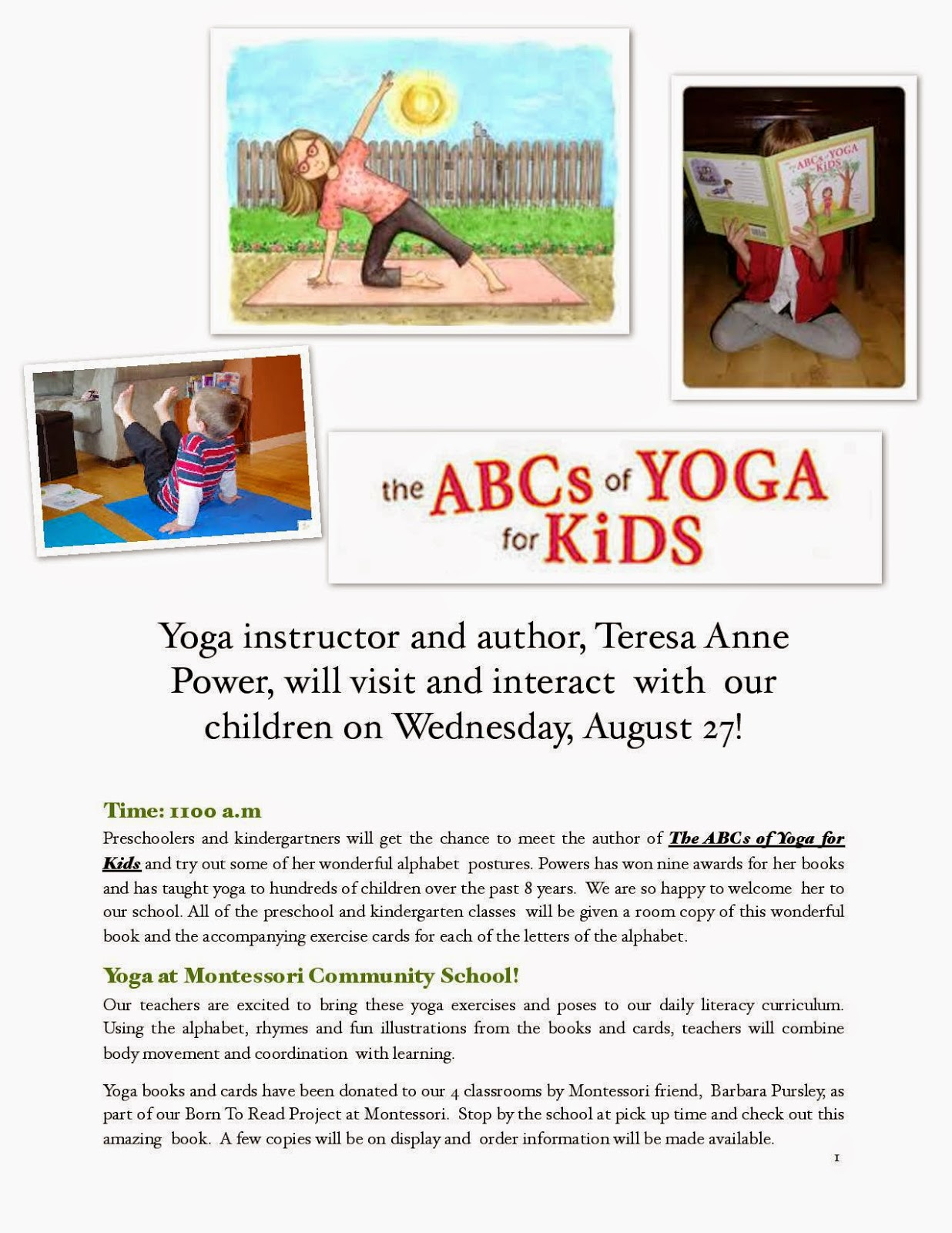 Yoga for kids abc yoga for kids presentations in granville ohio on i will be in granville ohio on wednesday august 27th and will demo my childrens book the abcs of yoga for kids altavistaventures Images