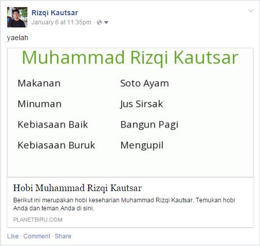 Aplikasi Facebook 1