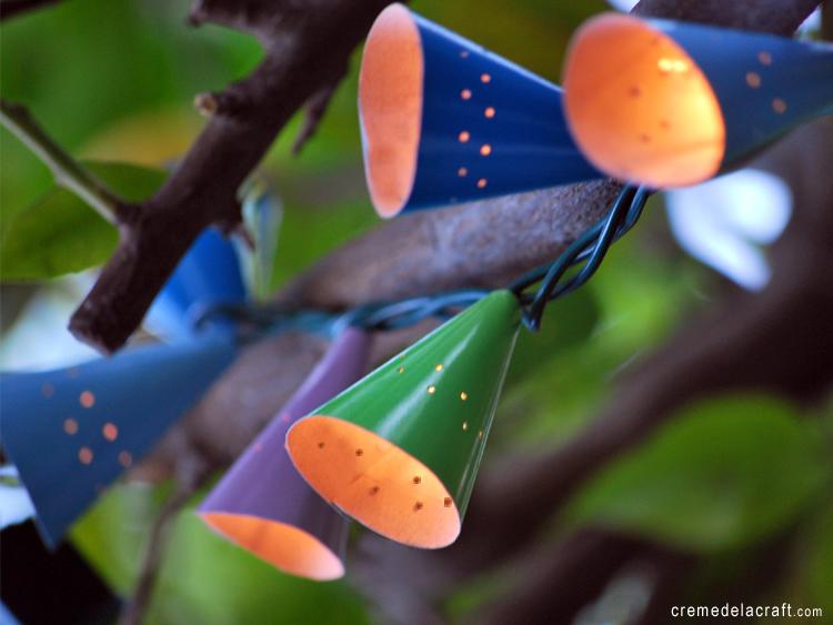 Diy Cafe String Lights : DIY: Cafe String Lights From Birthday Hats