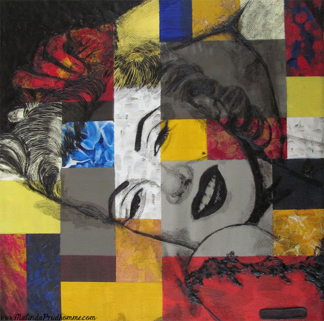 beauty art, marilyn in abstract, marilyn monroe, marilyn, monroe, marilyn art, mixed media art, encaustic painting