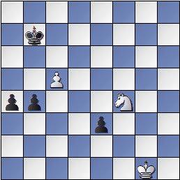 Estudio de Francesc Vivas Font, Fritz JT 1982, blancas juegan y hacen tablas