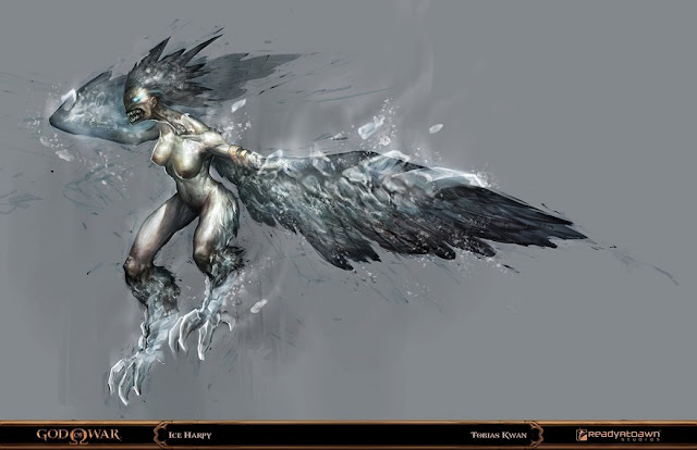 god of war: ice harpy por tobiee