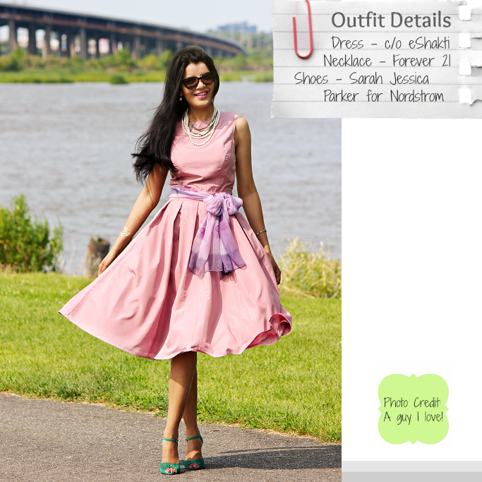 eShakti Dress For Weddings, Sarah Jessica Parker for Nordstrom Shoes, SJP Nordstrom Shoes, SJP 'Ina' Pumps