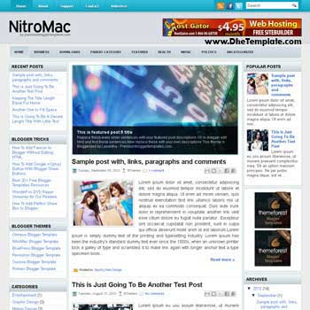 NitroMag blog template. template image slider blog. magazine blogger template style