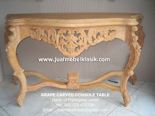 Supplier Indonesia Classic Furniture unfinished wooden console carved table mahogany