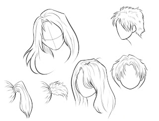 How to Draw Photo realistic Hair step by step