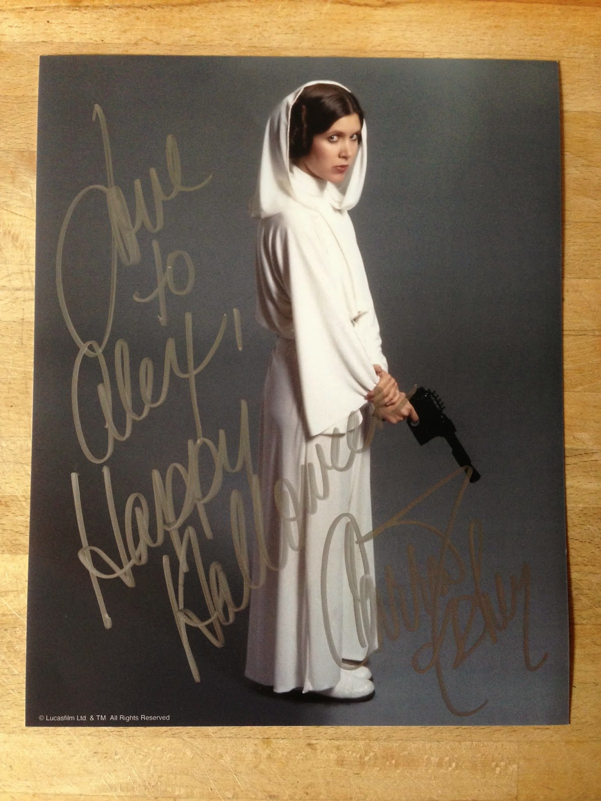 London Film & Comic Con Winter Carrie Fisher