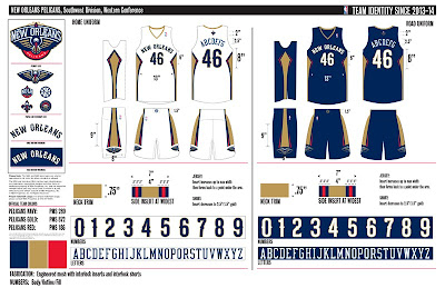 New Orleans Pelicans Jersey Design 2013-14