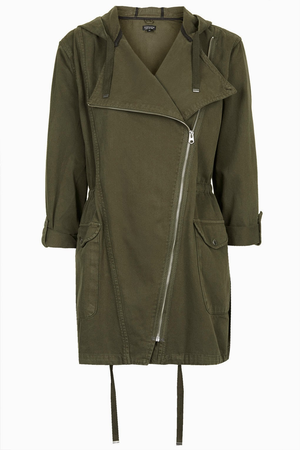 waterfall parka, topshop parka coat,