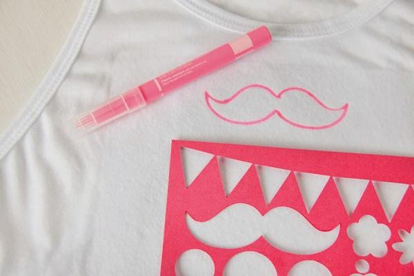 Camiseta moustache que moderna soy handbox craft - Plantillas para pintar camisetas ...