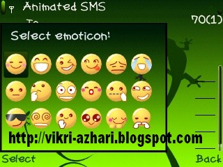 NOKIA E63 HACKED: Zensis animated(emoticon sms di nokia e63)