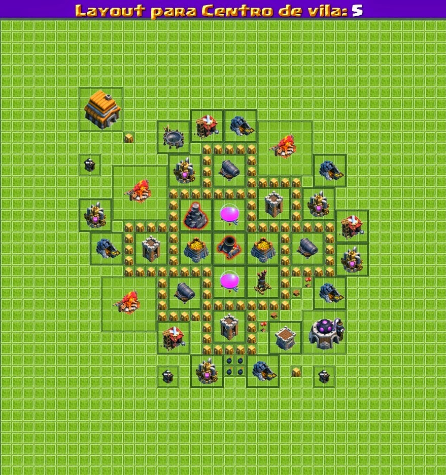 dicas clash of clans layouts - Melhor Layout Cv 4