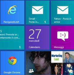 Mail, Contatti e Messaggi in Windows 8