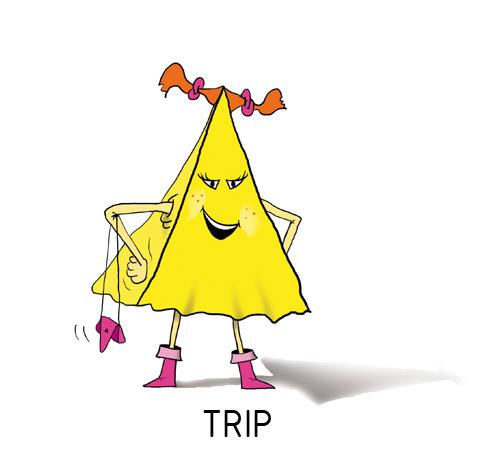 TRIP: Es aguda y perspicaz. Es presumida, tiene sentido del humor y le gusta dirigir al grupo.