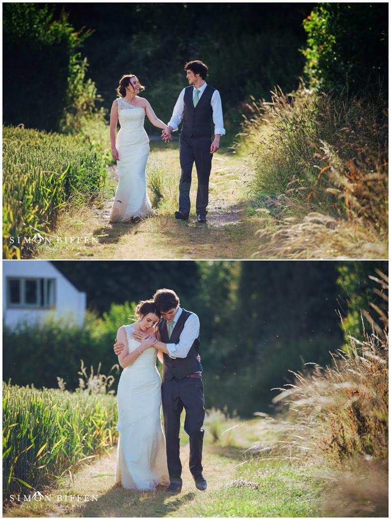 Roughmoor Farm wedding photography bride and groom