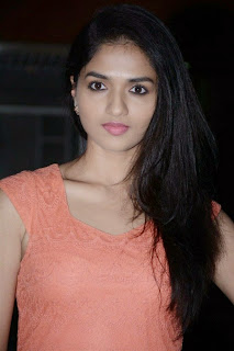 Sunaina in Short Peach Colored Sleeveless Dress at Vanhmam Press meet