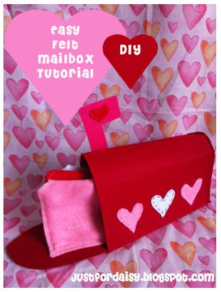 Just For Daisy :: Felt Mailbox Tutorial