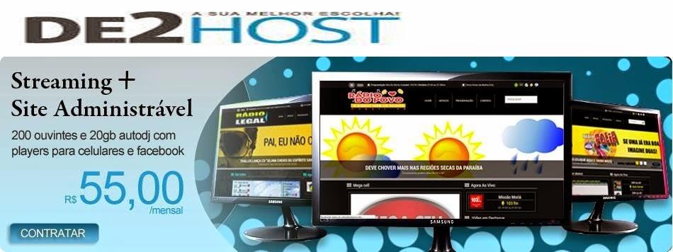 acesse o site : De2host.com