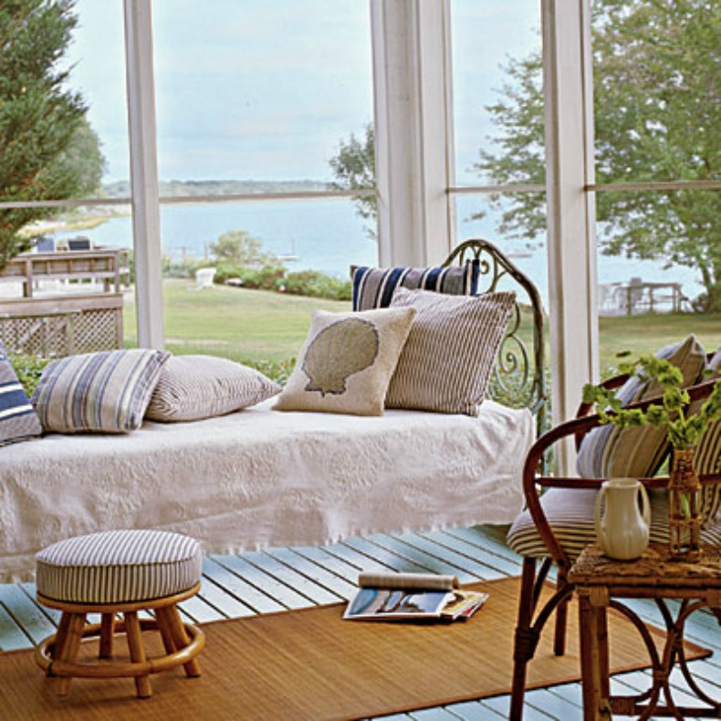 coastal cottage cozy space with ocean view