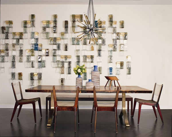 Apartment intervention mid century modern for Dining area wall design