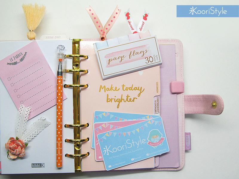 Koori KooriStyle Kawaii Cute Planner Stationery Goods Goodies Agenda Journal Washi Deco Tape Sticky Note Notes Stickers Kikki Filofax Business Cards Bookmarks Books Markers