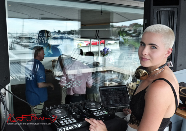 DJ on deck at Sperry Odyssey Australia launch @ Regatta Rose Bay.