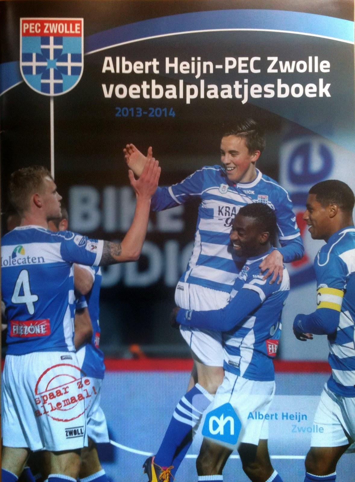 Football Cartophilic Info Exchange Albert Heijn Pec Zwolle Voetbalplaatjesboek 2013 2014