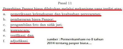 mekasnisme pembuatan paspor baru