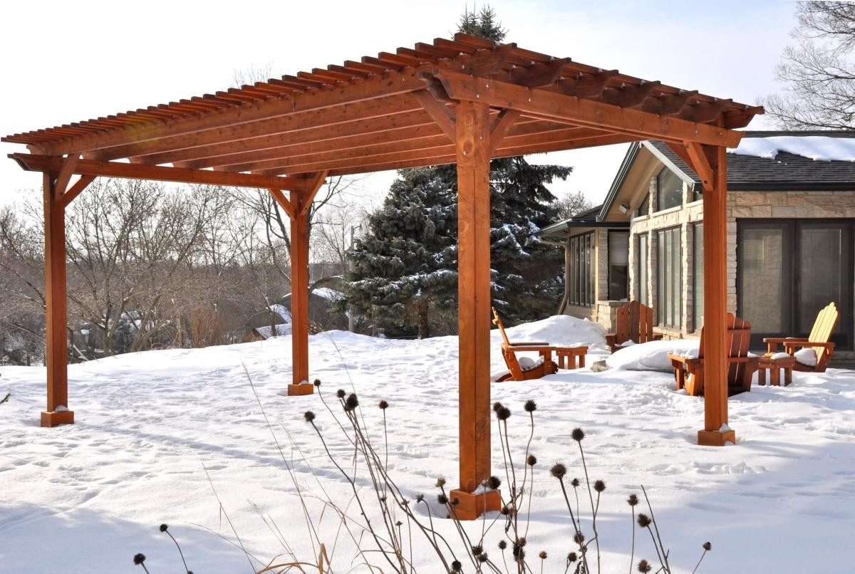 In States Like California Arizona Texas And All Places Without High Speed Winds Or Deep Snow Pergolas Do Not Need To Be Secured Under The Ground