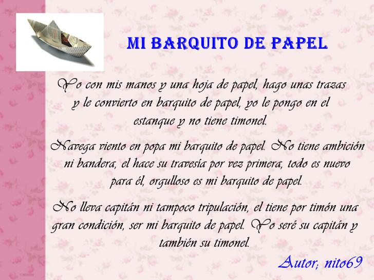 MI BARQUITO DE PAPEL