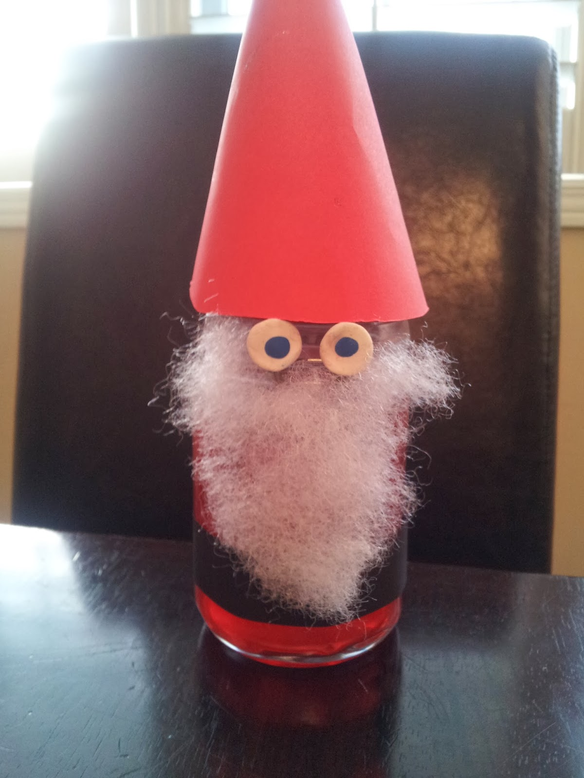 Little townhome love glass jar christmas craft for Santa glasses for crafts