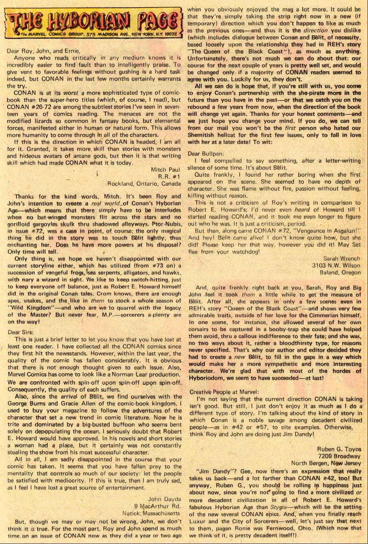 Conan the Barbarian (1970) Issue #76 #88 - English 22