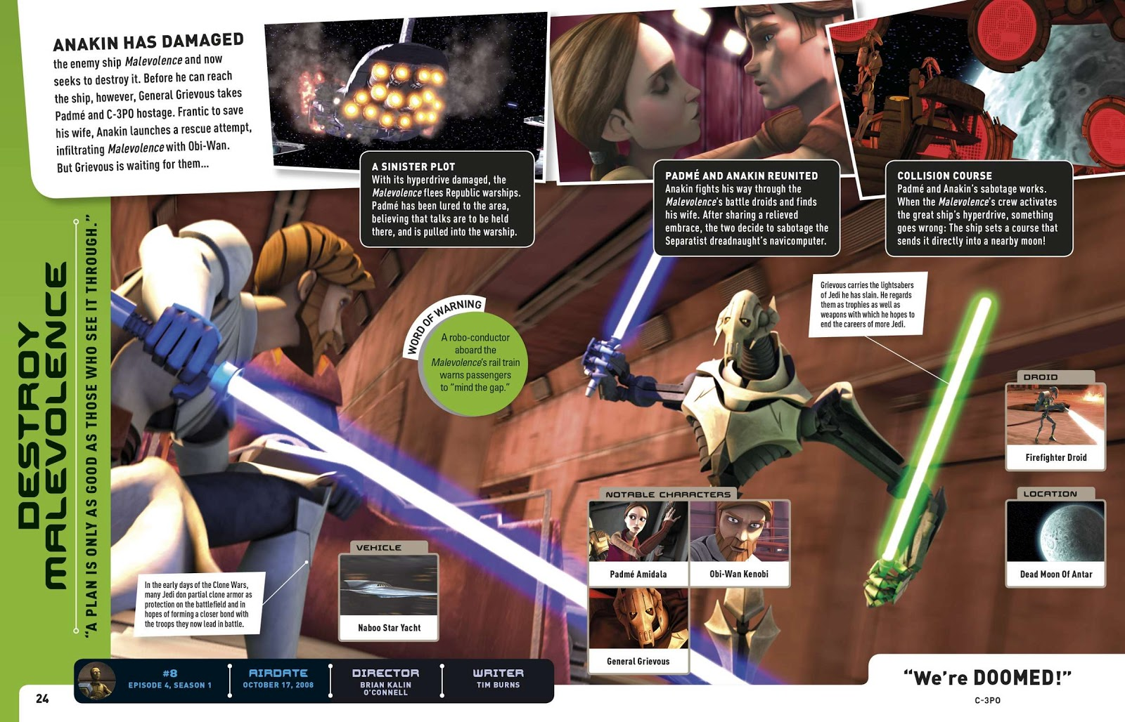 KOOL TV REVIEW: \'STAR WARS - THE CLONE WARS\' EPISODE GUIDE BOOK ...