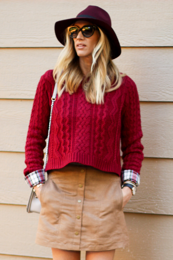 sweater skirt hat for fall