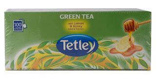 Tetley Green Tea, Lemon and Honey, 100 Tea Bags Just for 382/-