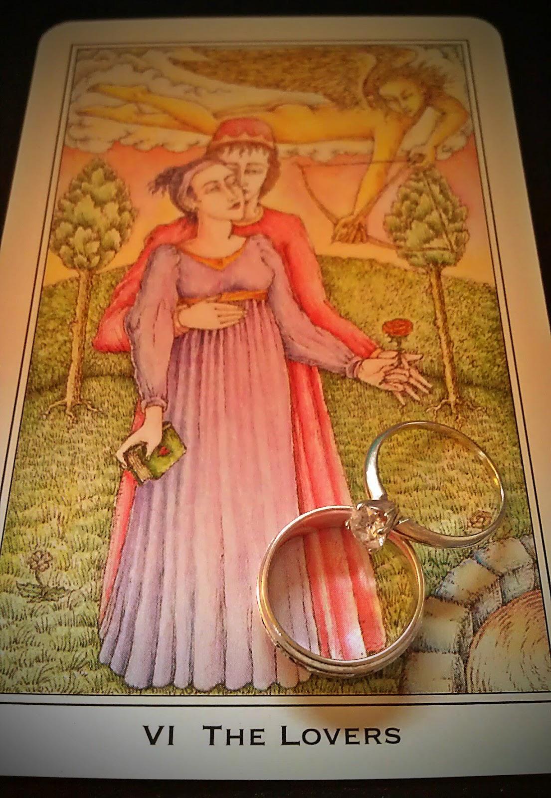 Desert Rose Tarot The Lovers Medieval Enchantment