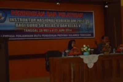 Pelatihan Instruktur Nasional (IN) Kurikulum 2013 untuk guru SD.