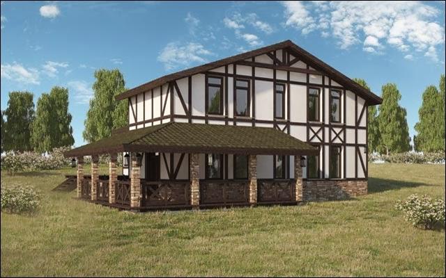 Дом в немецком стиле фахверк своими руками 14